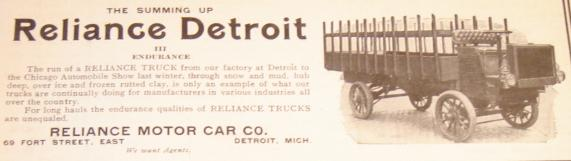 Below Is A 1907 Reliance Truck