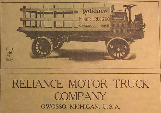 In 1911 Reliance Motor Truck Was The First Truck Equipped