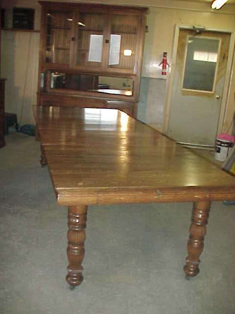Table Extends To Nine Foot Ten Inches With All Six Leaves Inserted This Has A Pat Date Of March 17 1896 Store Inside The